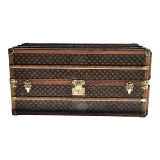 Circa 1925 Louis Vuitton Wardrobe Trunk For Sale