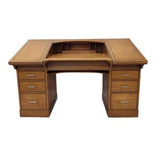 Johann Tapp Custom Built Art Deco Drafting Desk With Hidden Compartments For Sale