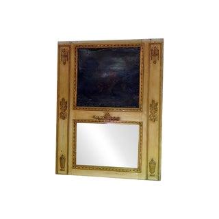 Antique 18th C French Louis XVI Style Trumeau Mirror