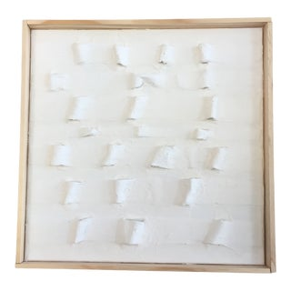 'Army Tents' Minimalist Plaster Painting For Sale