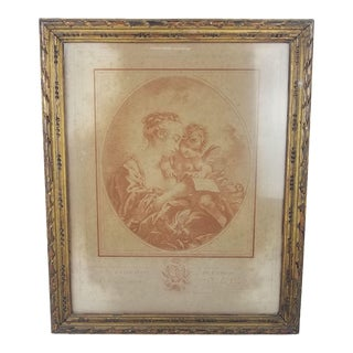 After François Boucher Mother and Child Framed Print For Sale
