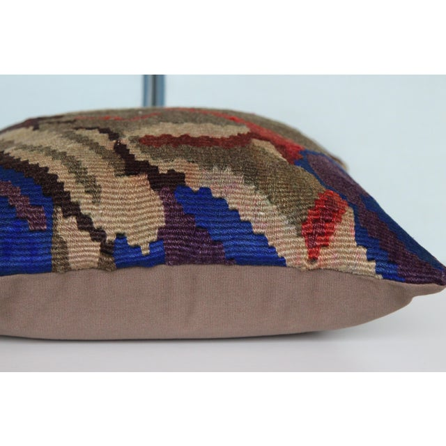 Vintage Turkish Kilim Decorative Handmade Pillow Cover For Sale In Chicago - Image 6 of 8