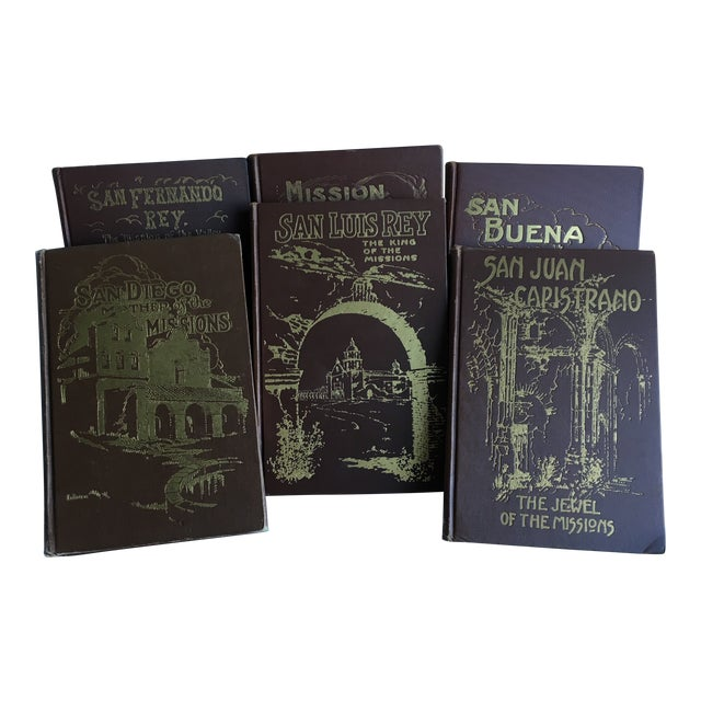 1921- 1931 California Missions Book Collection - Set of 6 For Sale