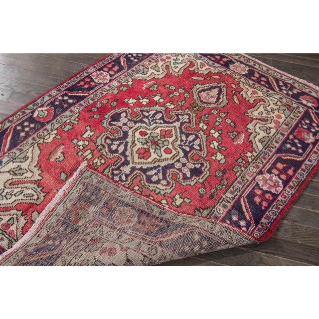 "Apadana - Vintage Persian Hamadan Rug, 4'3"" x 6'3"" - Image 3 of 4"
