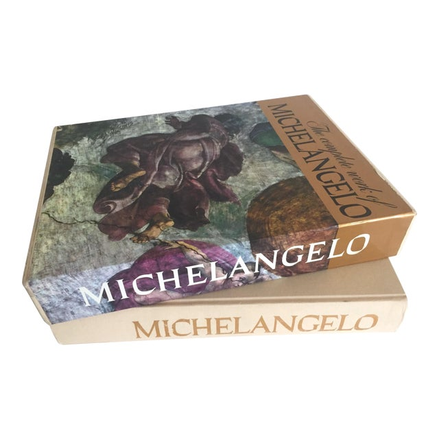 """""""The Complete Work of Michelangelo """" Slip Case Box Monumental Xtra Large Collector Vintage 1965 1st Edtn Book For Sale"""