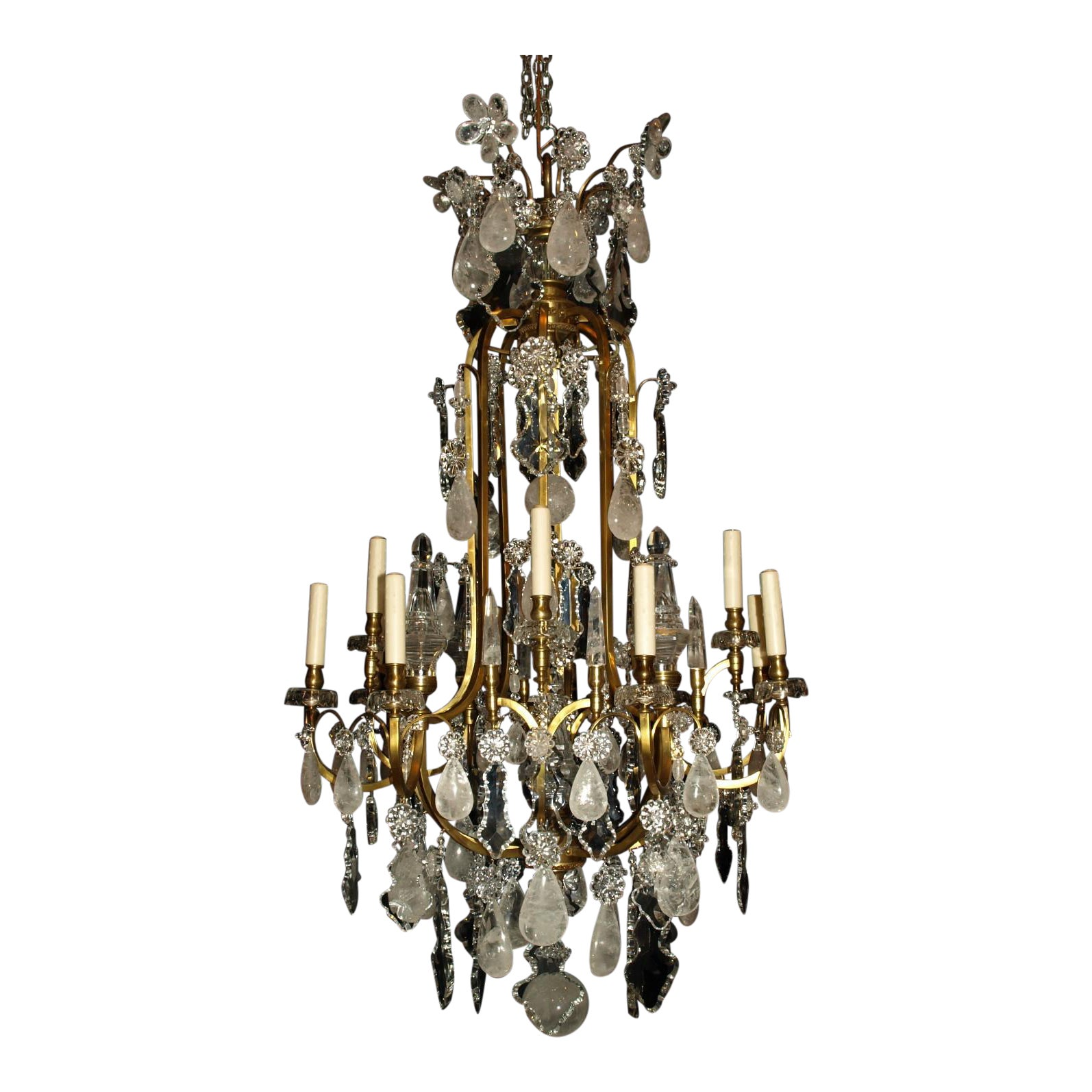 Exquisite Antique Chandelier. Rock Crystal Chandelier by Baccarat | DECASO - Exquisite Antique Chandelier. Rock Crystal Chandelier By Baccarat