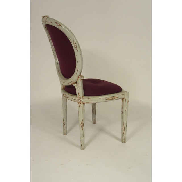 1960s 1960s Vintage Faux Bois Dining Chairs- Set of 6 For Sale - Image 5 of 13