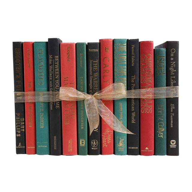 Christmas Vibe Colorpak : Decorative Books in Shades of Red and Green For Sale