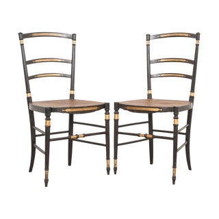 19th Century French Belle Époque Opera Chairs - a Pair For Sale