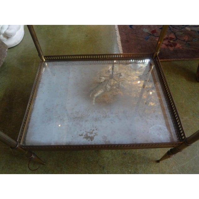 1940's French Maison Bagues Attributed Bronze Table For Sale - Image 9 of 13