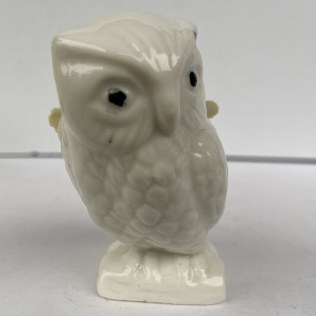 Vintage Mid 20th Century China Owl Pincushion For Sale - Image 4 of 11
