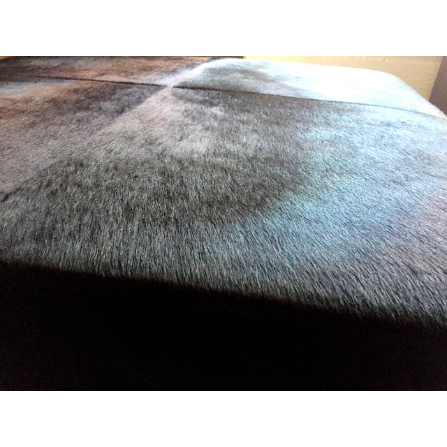 Cowhide Ottoman - Image 4 of 5