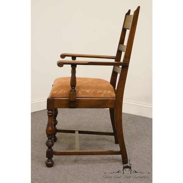 1940s 1940s Antique Walnut Dining Armchair For Sale - Image 5 of 8