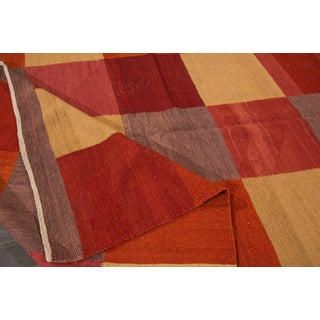 Fine Modern Geometric Multicolored Kilim Rug Preview