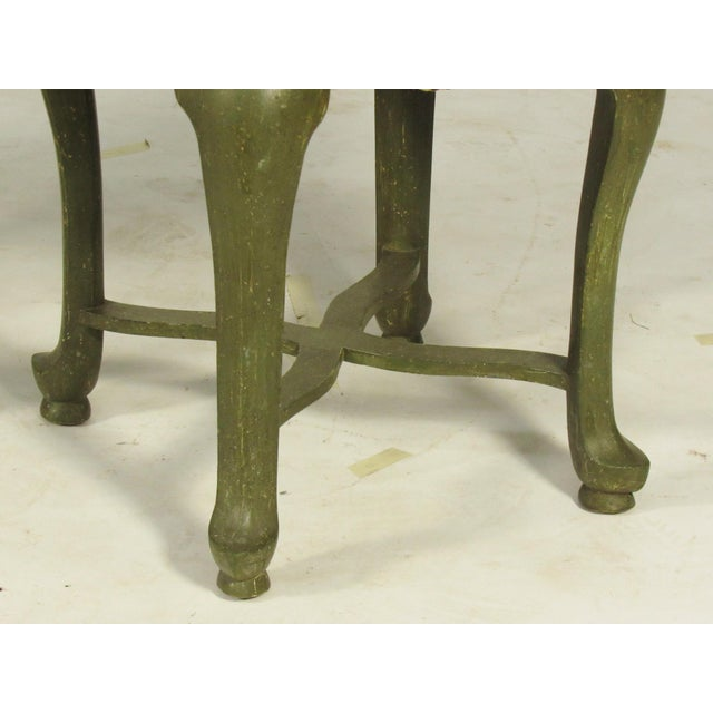 Yale Burge Yale Burge French Painted Stools - a Pair For Sale - Image 4 of 8