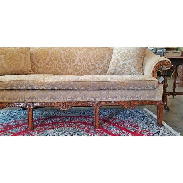 19c Chippendale Style Camel Back Sofa For Sale - Image 10 of 12