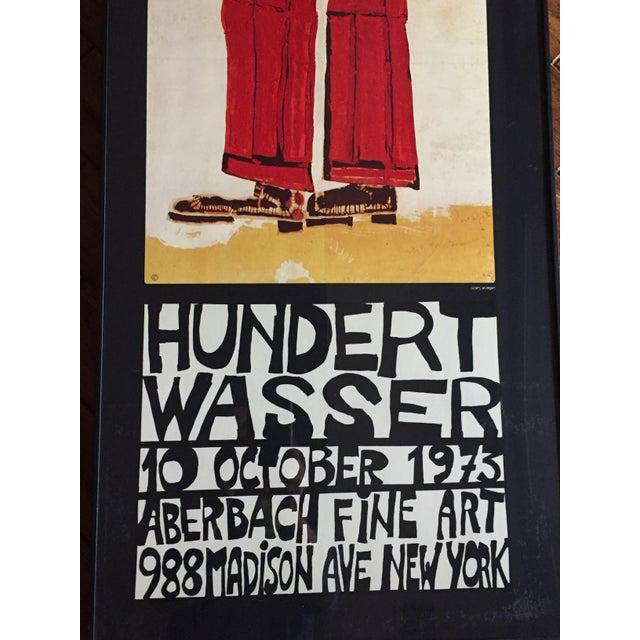 """Carnival Vintage 1973 Framed """"Hundertwasser"""" Exibition Poster For Sale - Image 3 of 11"""