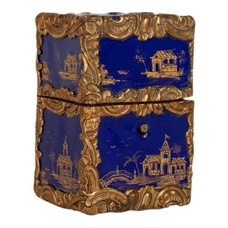 Ladies Chinoiserie Enameled Necessaire (or Etui) Box For Sale