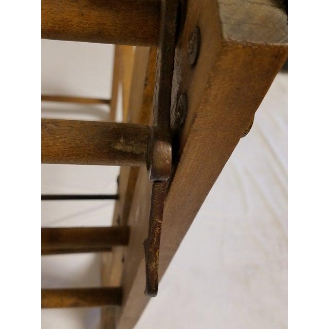 Wood Antique Amish Handmade Hardwood Clothes Wringer For Sale - Image 7 of 7