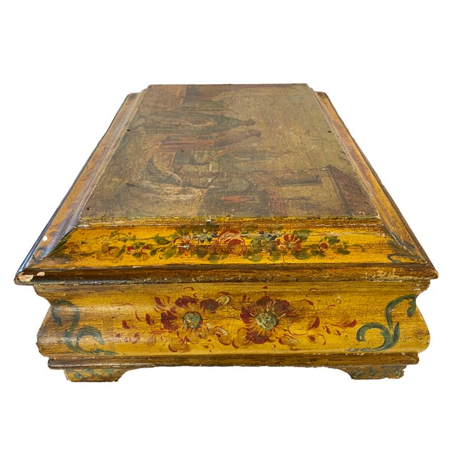 19th Century Painted Italian Letter Box For Sale - Image 4 of 9