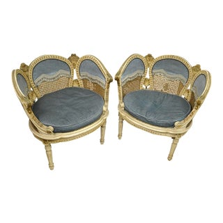 20th Century French Petal Chairs - a Pair For Sale