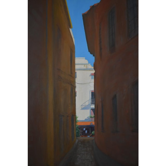 "Contemporary ""Memory of Seville"" Large Contemporary Painting by Stephen Remick For Sale - Image 3 of 11"