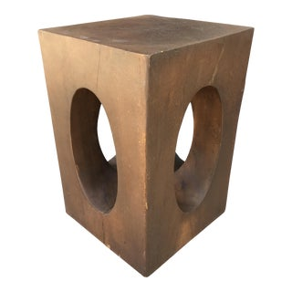 Mahogany Sculptural Side Table For Sale