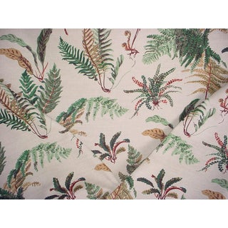 Brunschwig & Fils Les Fougeres Natural Print Upholstery Fabric - 2 1/2 Yards For Sale
