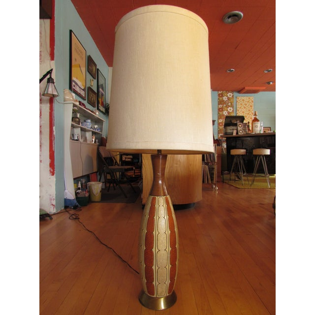 Mid-Century Ceramic Lamp - Image 2 of 8