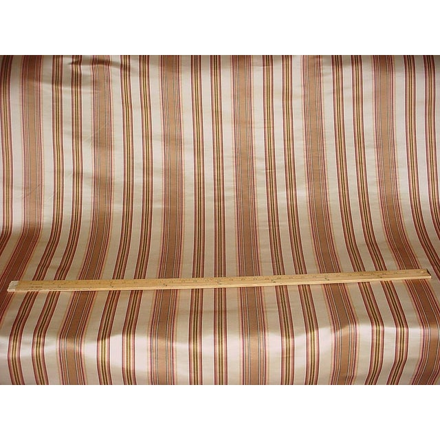 Lee Jofa Traditional Lee Jofa Margaux Stripe Camel / Petal Silk Linen Upholstery Fabric - 9y For Sale - Image 4 of 5
