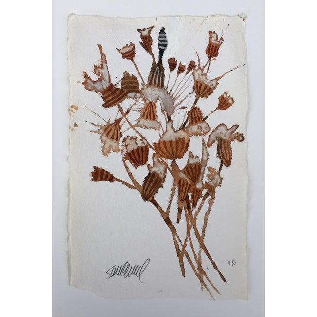 """Dried Flowers"" Original Watercolor - Image 2 of 3"