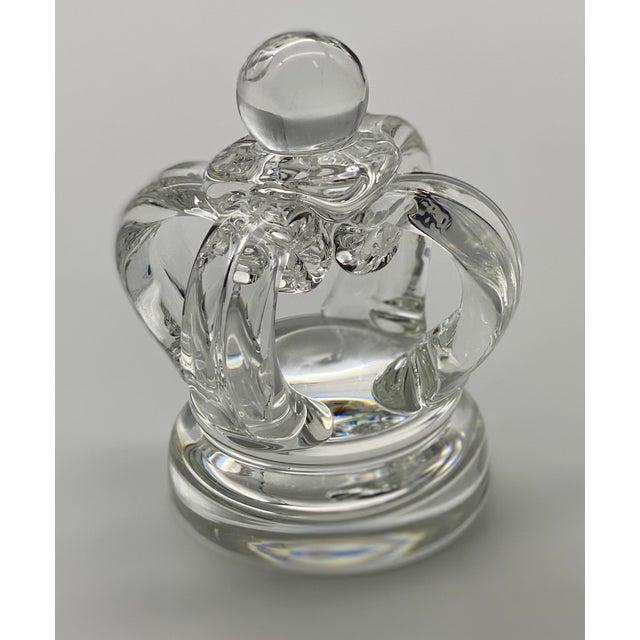 Vintage Steuben Glass Lloyd Atkins Decorative Crystal Crown For Sale - Image 12 of 13