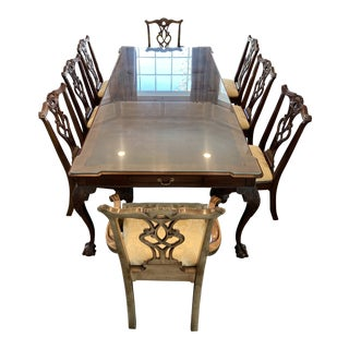 Henredon Rittenhouse Square Mahogany Table & Chairs - Set of 11 For Sale