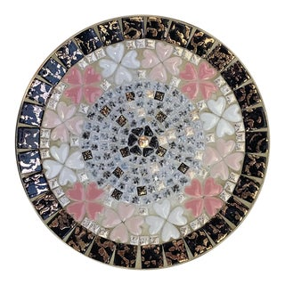 Mid Century Mosaic Tile Bowl For Sale