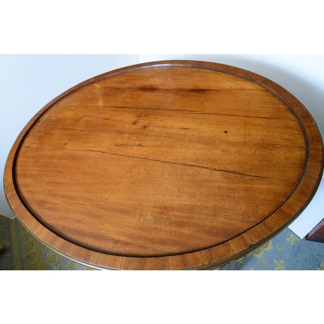 Gold Swiss Walnut Center Table For Sale - Image 8 of 10