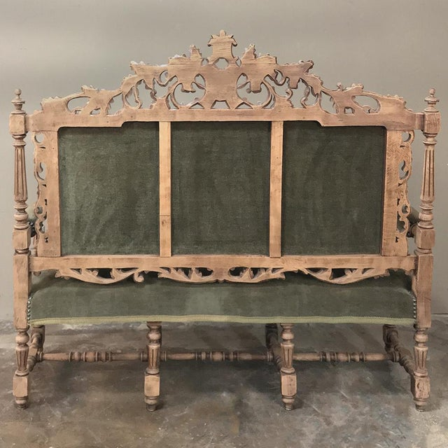 19th Century Black Forest Stripped Oak Hunt Sofa For Sale - Image 12 of 13