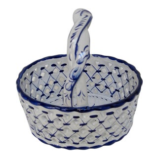 Portuguese Porcelain Basket