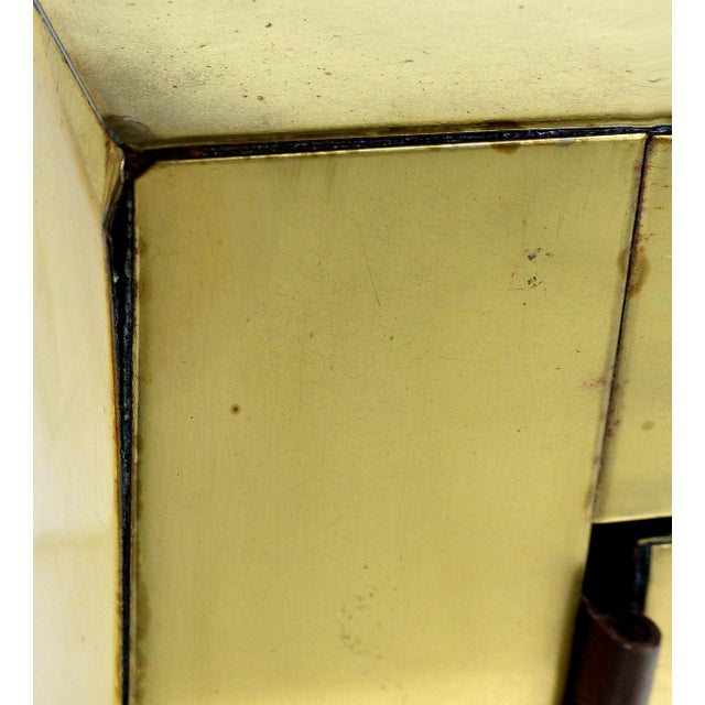 Paul Evans Directional Brass Cityscape Credenza Cabinet With 2 Doors For Sale - Image 9 of 10
