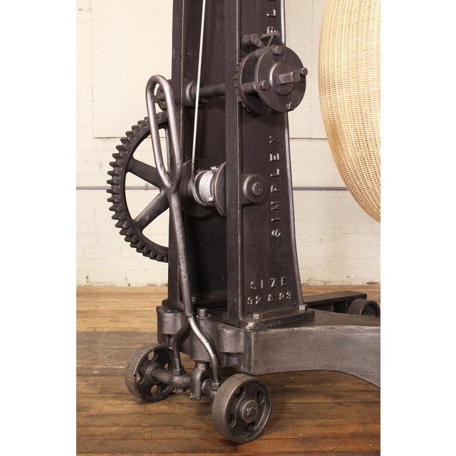 Engine Hoist With Nanna Ditzel Hanging Egg Chair For Sale - Image 10 of 12