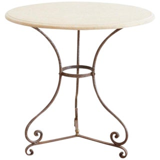 French Style Stone Top Bistro or Cafe Table For Sale