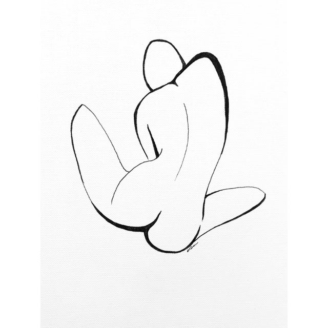 "2010s ""The Pose I I I"" Original Pen & Ink Drawing For Sale - Image 5 of 6"