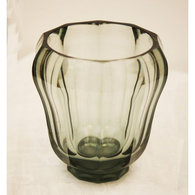Early 20th Century Art Deco crystal vase For Sale - Image 5 of 5