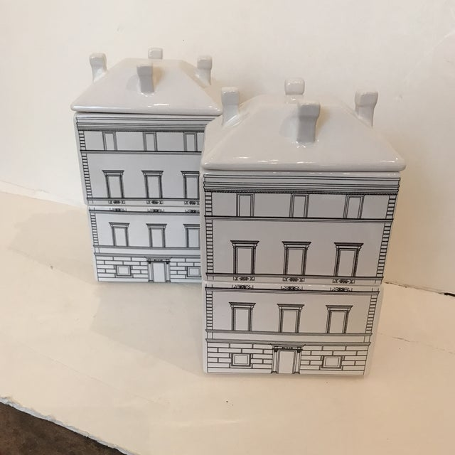 Architectural Canisters - a Pair - Image 2 of 5