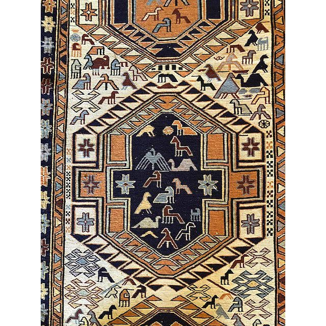 Ardibal, Iran. Long 1970s Vintage Hand-Knotted Persian Runner (2′6″ × 9′8″) For Sale - Image 4 of 7