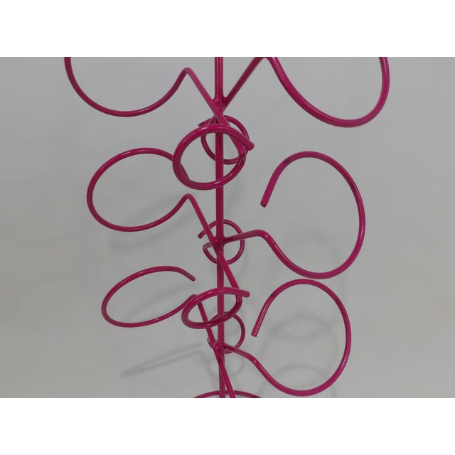 Contemporary Pink Metal Wine Bottle Rack For Sale In Sacramento - Image 6 of 7