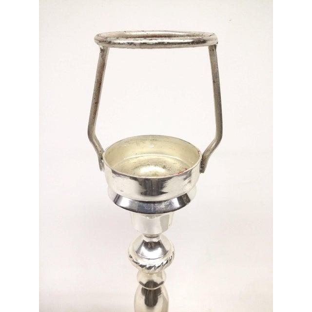 Art Deco Vintage Silver-Plate Tea Light Candle Holder For Sale - Image 3 of 7