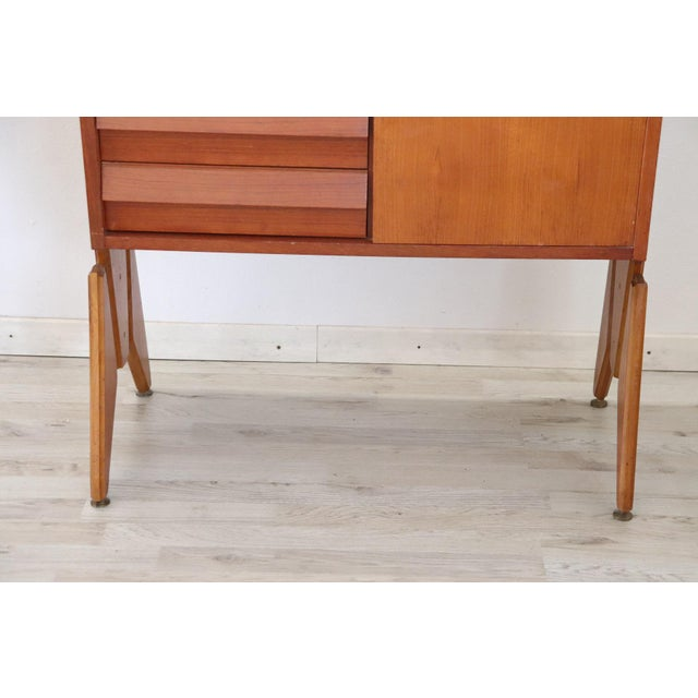 Brown 20th Century Italian Vintage Design Bookcase, 1970s For Sale - Image 8 of 11