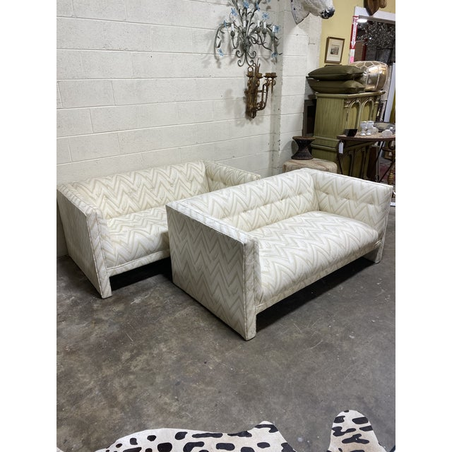 These are a reupholstery project. The fabric is dry rotted. If you weren't planning to actually sit on these, they look...
