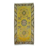 Image of Yellow Antique Khotan Rug, 2'1'' X 4' For Sale