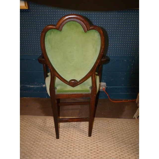 Mahogany Heart Shieldback Chairs - Set of 12 - Image 6 of 9